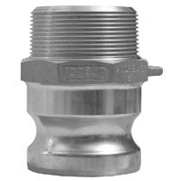 # DIX300-F-AL - Type F Adapters male adapter x male NPT - Aluminum - 3 in.