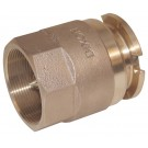 Bayonet Style Dry Disconnect Adapter x Female NPT, 3Brass, FKM seal