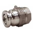 Bayloc™ Dry Disconnect Coupler x Female NPT, Aluminum, PTFE Encapsulated FKM seal