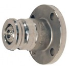 Bayloc™ Dry Disconnect Adapter x 150# ASA Flange, Stainless Steel, PTFE Encapsulated Silicone seal