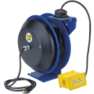 Safety Power Cord Reels - With Duplex G.F.C.I. Metal Industrial Recep Accessory