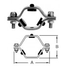 # SANB24RG-G800 - Hex Tube Hangers with Grommets - 304 Stainless Steel - 8 in.